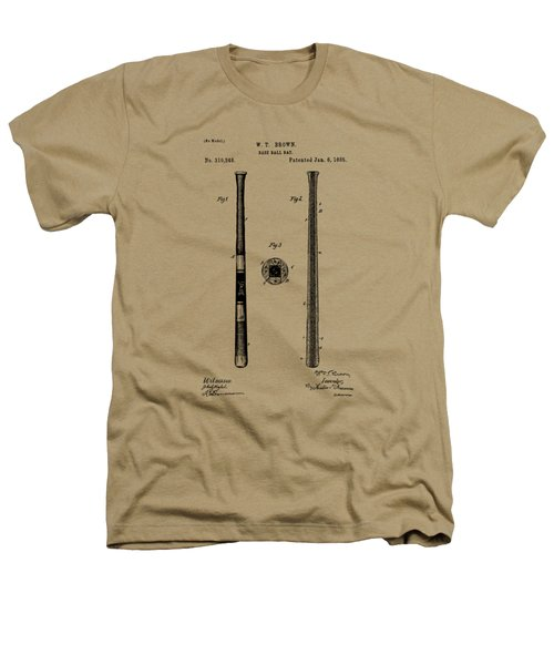 1885 Baseball Bat Patent Artwork - Vintage Heathers T-Shirt by Nikki Marie Smith