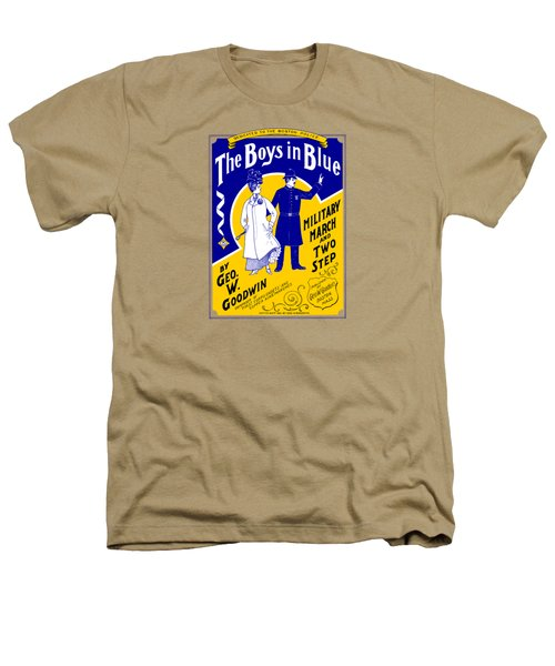 1901 The Boys In Blue, The Boston Police Heathers T-Shirt by Historic Image