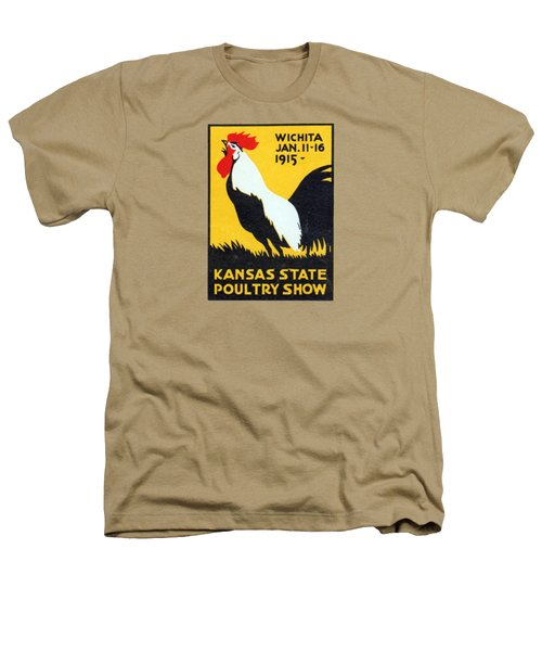 1915 Kansas Poultry Fair Heathers T-Shirt