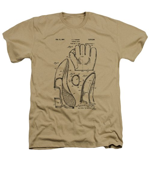 1941 Baseball Glove Patent - Vintage Heathers T-Shirt by Nikki Marie Smith