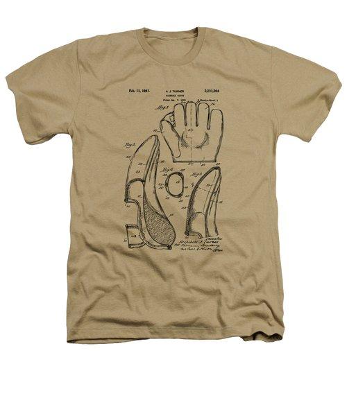 1941 Baseball Glove Patent - Vintage Heathers T-Shirt by Nikki Marie Smith