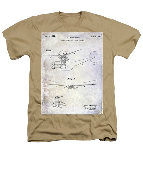 1947 Helicopter Patent Heathers T-Shirt by Jon Neidert