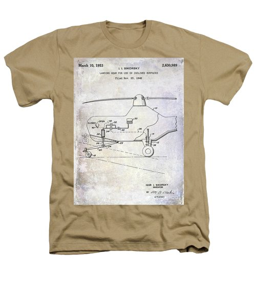 1953 Helicopter Patent Heathers T-Shirt