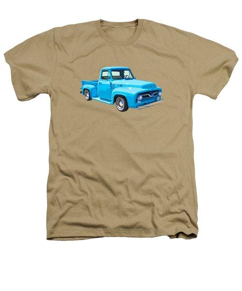 1955 Ford F100 Blue Pickup Truck Canvas Heathers T-Shirt
