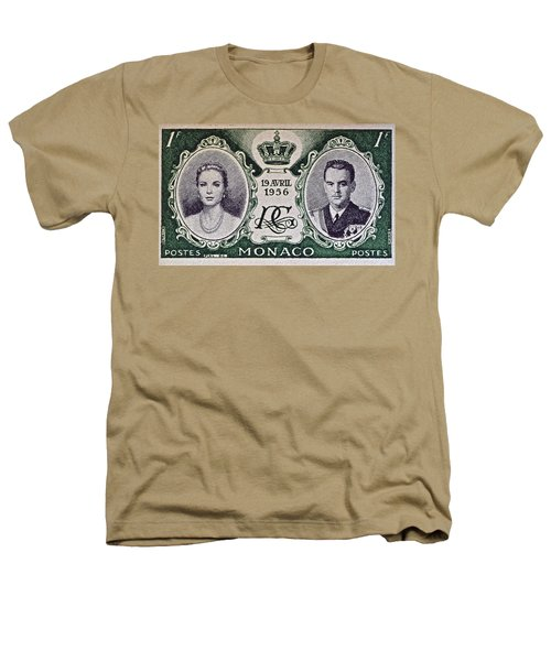1956 Princess Grace Of Monaco Stamp II Heathers T-Shirt by Bill Owen