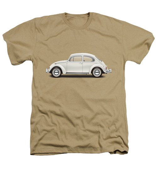 1966 Volkswagen 1300 Sedan - Pearl White Heathers T-Shirt by Ed Jackson