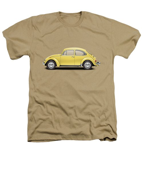 1972 Volkswagen Beetle - Saturn Yellow Heathers T-Shirt by Ed Jackson