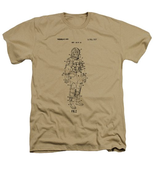 1973 Astronaut Space Suit Patent Artwork - Vintage Heathers T-Shirt by Nikki Marie Smith