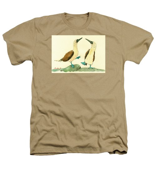 Blue Footed Boobies Heathers T-Shirt by Juan  Bosco