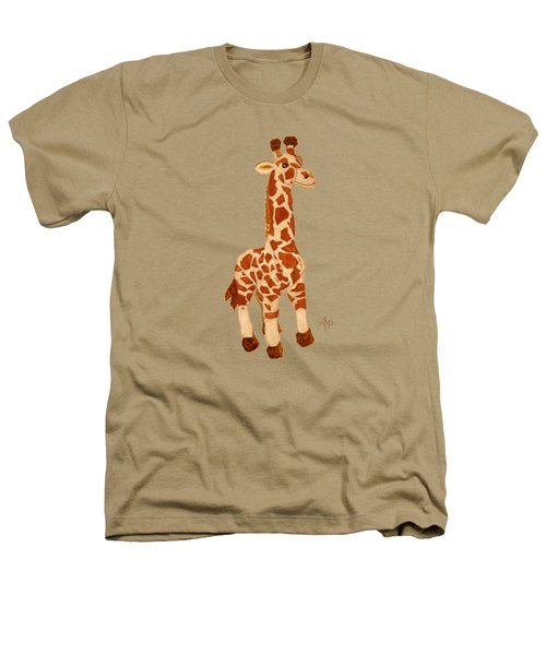 Cuddly Giraffe Heathers T-Shirt by Angeles M Pomata