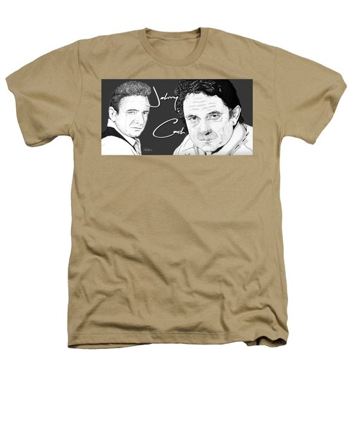 Johnny Cash Heathers T-Shirt by Bill Richards