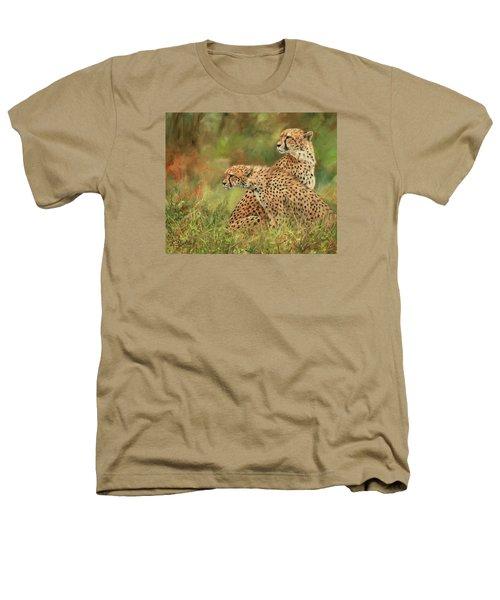 Cheetahs Heathers T-Shirt by David Stribbling