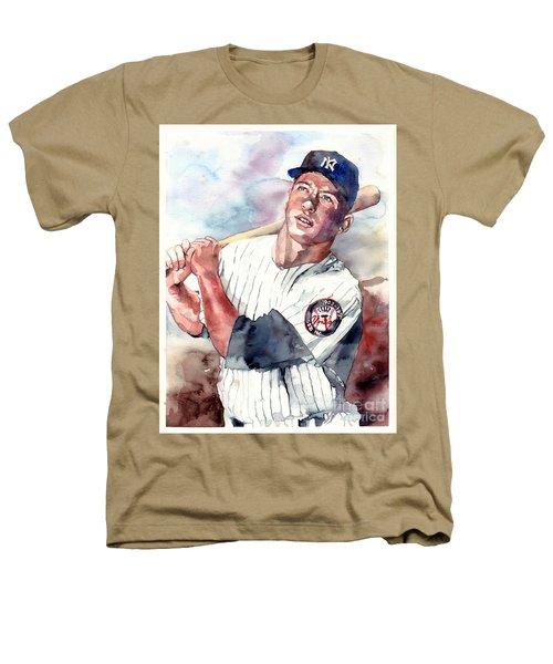 Mickey Mantle Portrait Heathers T-Shirt