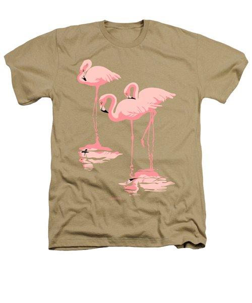 3 Pink Flamingos Abstract Pop Art Nouveau Graphic Art Retro Stylized Florida Heathers T-Shirt