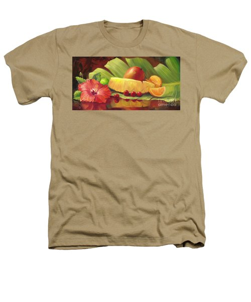4 Cherries Heathers T-Shirt by Laurie Hein