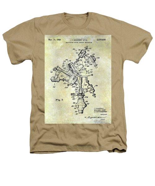1950 Helicopter Patent Heathers T-Shirt by Jon Neidert