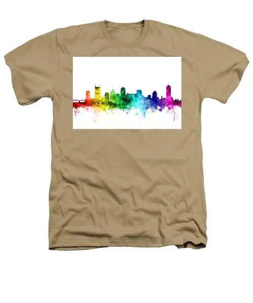 Nashville Tennessee Skyline Heathers T-Shirt by Michael Tompsett