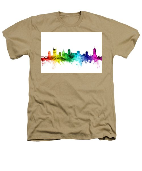 Nashville Tennessee Skyline Heathers T-Shirt