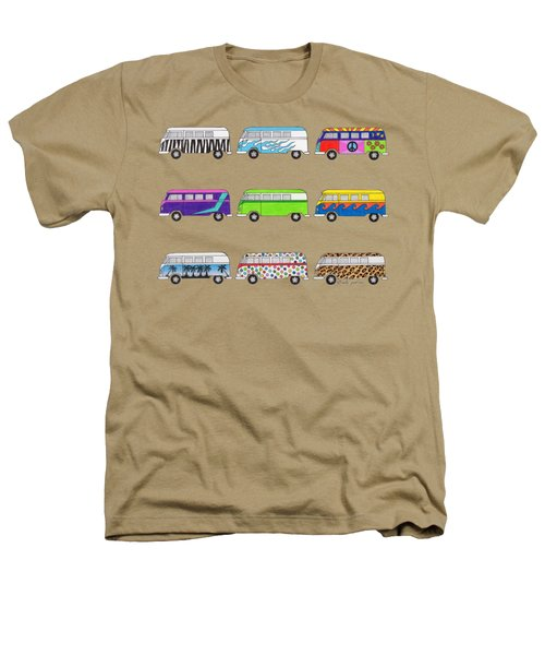 9 Wild Buses Heathers T-Shirt by Rita Palmer