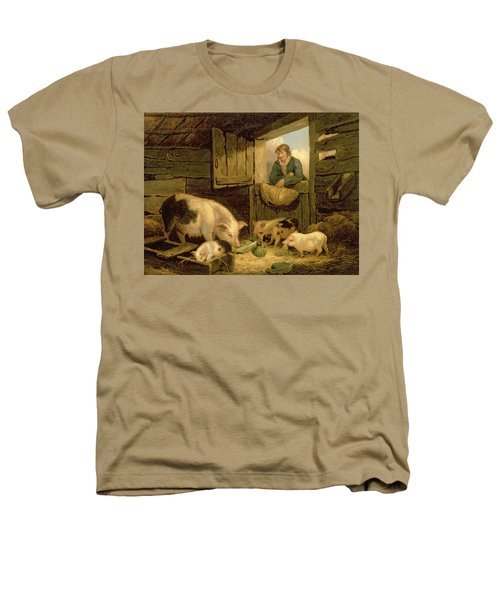 A Boy Looking Into A Pig Sty Heathers T-Shirt by George Morland