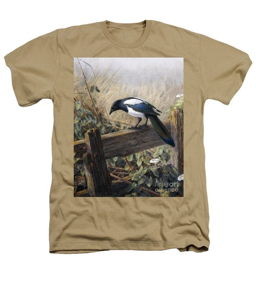 A Magpie Observing Field Mice Heathers T-Shirt