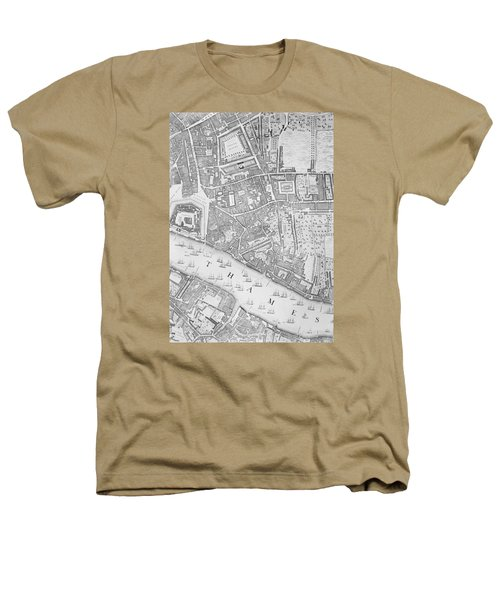 A Map Of The Tower Of London Heathers T-Shirt by John Rocque