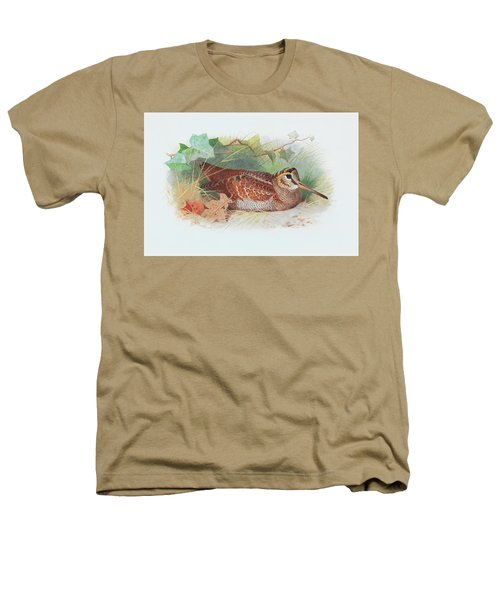 A Woodcock Resting Heathers T-Shirt