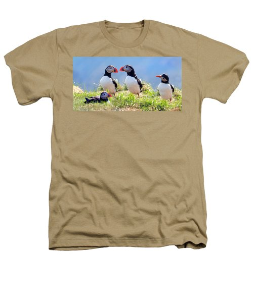 A World Of Puffins Heathers T-Shirt