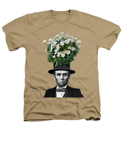 Abraham Lincoln Presidential Daisies Heathers T-Shirt by Garaga Designs