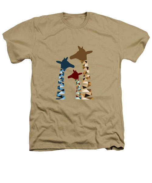 Abstract Colored Giraffe Family Heathers T-Shirt by Brigitte Carre