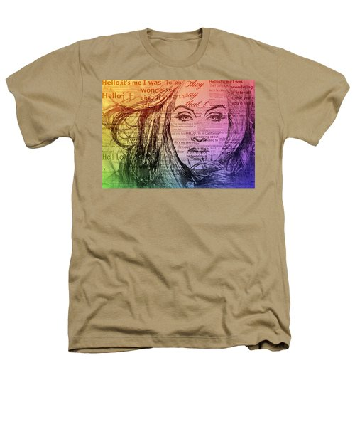 Adele Hello Typography  Heathers T-Shirt by Dan Sproul
