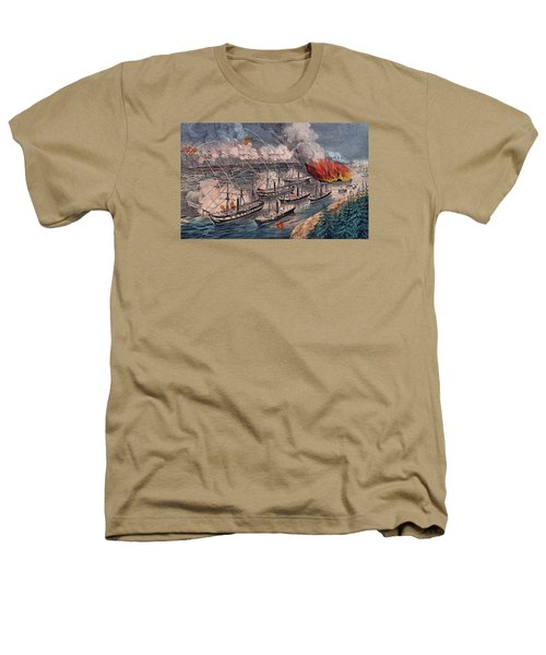 Admiral Farragut's Fleet Engaging The Rebel Batteries At Port Hudson Heathers T-Shirt
