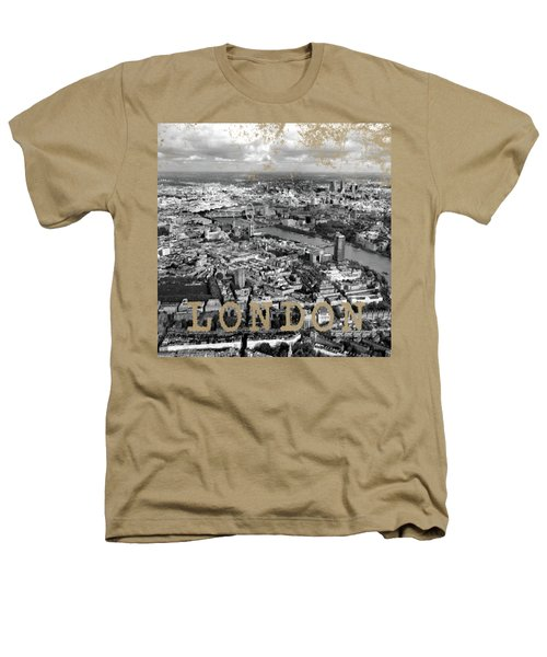 Aerial View Of London Heathers T-Shirt by Mark Rogan