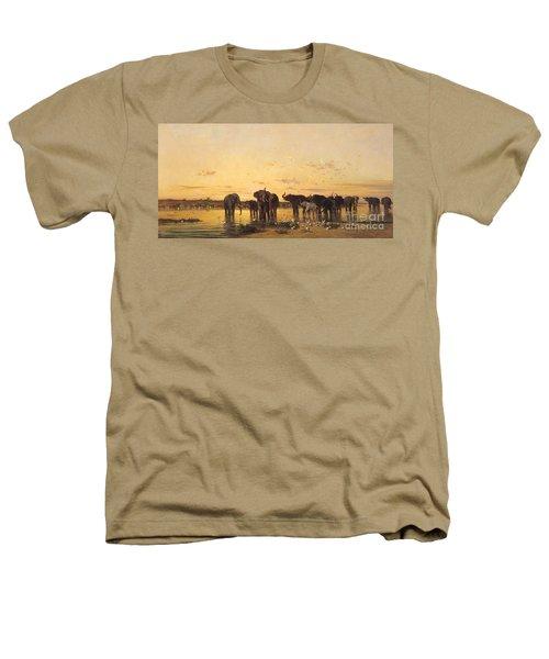 African Elephants Heathers T-Shirt