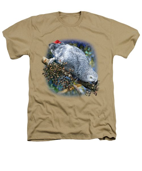 African Grey Parrot A1 Heathers T-Shirt