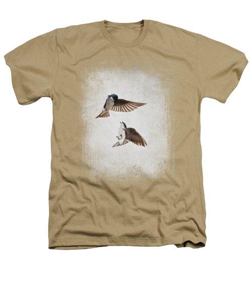 Airobatics - Tree Swallows Heathers T-Shirt by Jai Johnson