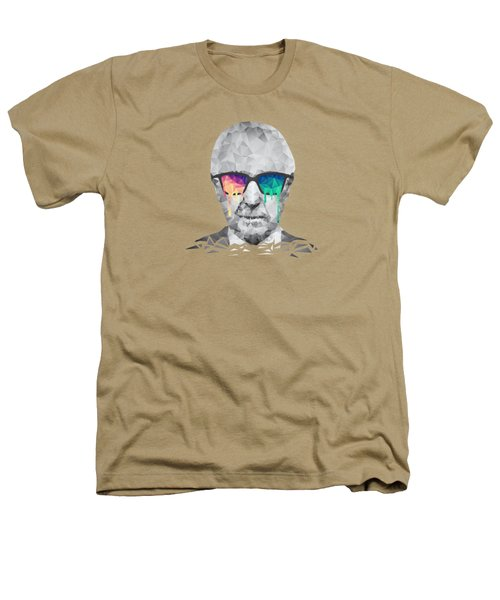 Albert Hofmann - Psychedelic Polygon Crystalised Portrait Heathers T-Shirt by Philipp Rietz