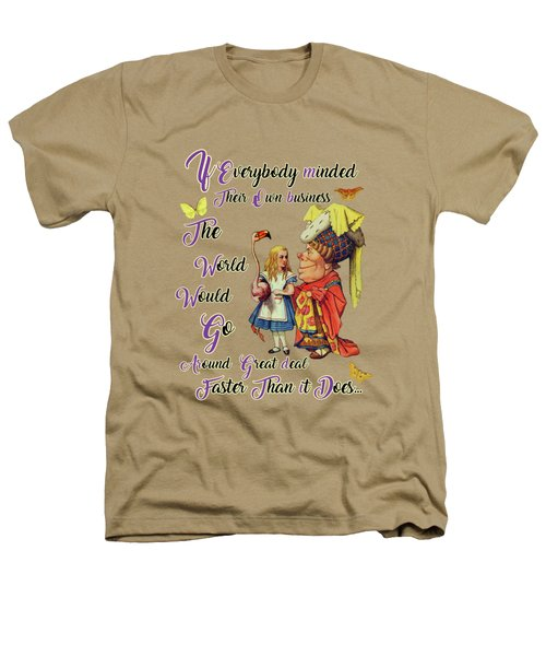 Alice With The Duchess Vintage Dictionary Art Heathers T-Shirt by Jacob Kuch