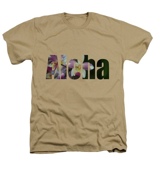 Aloha Orchids Type Heathers T-Shirt by Kerri Ligatich