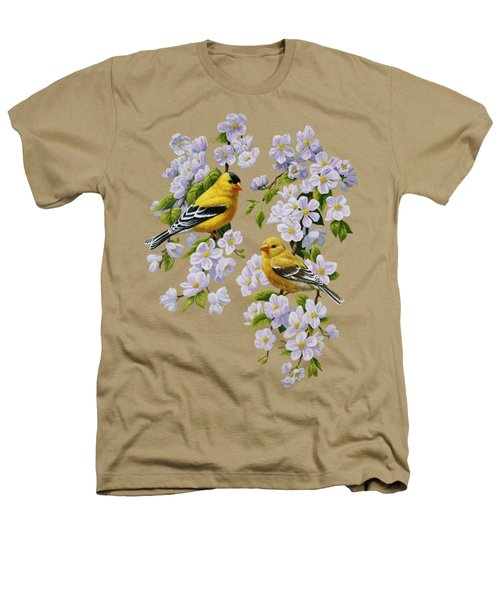 American Goldfinch Spring Heathers T-Shirt