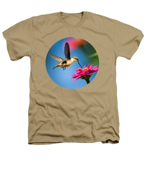Art Of Hummingbird Flight Heathers T-Shirt by Christina Rollo