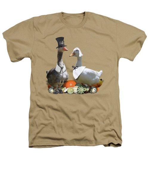 Thanksgiving Pilgrim Ducks Heathers T-Shirt