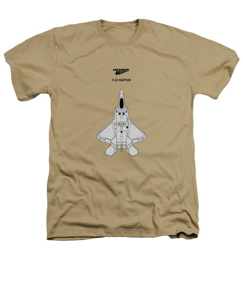F-22 Raptor - White Heathers T-Shirt by Mark Rogan