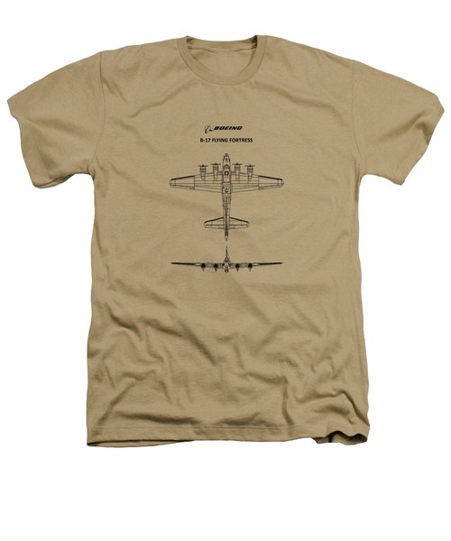 B-17 Flying Fortress Heathers T-Shirt by Mark Rogan