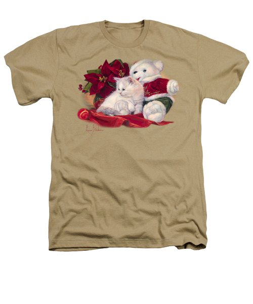 Christmas Kitten Heathers T-Shirt by Lucie Bilodeau