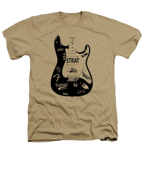 Fender Stratocaster 64 Heathers T-Shirt by Mark Rogan
