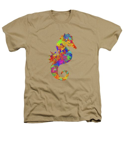 Seahorse Watercolor Art Heathers T-Shirt