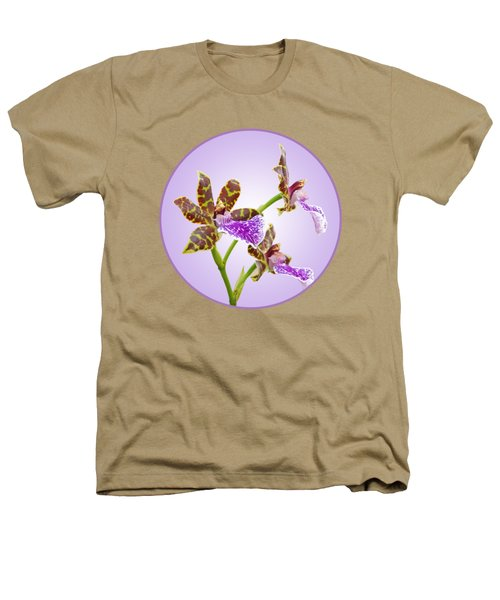 Bold And Beautiful - Zygopetalum Orchid Heathers T-Shirt by Gill Billington
