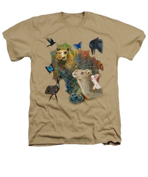 Sacred Journey Heathers T-Shirt by Deborha Kerr
