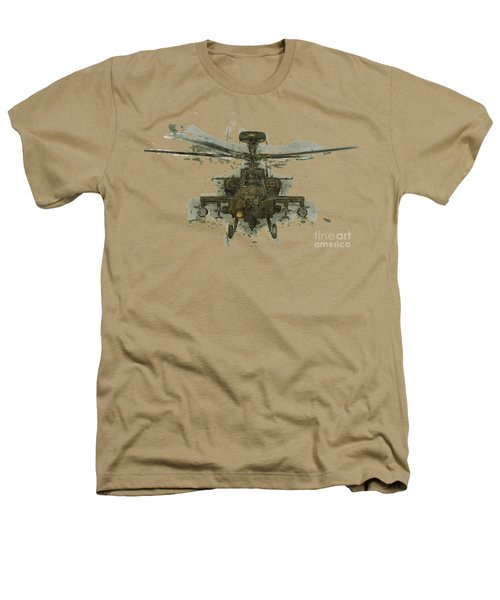 Apache Helicopter Abstract Heathers T-Shirt